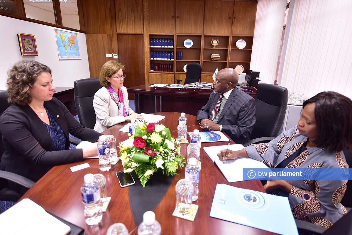 THE AMBASSADOR OF THE REPUBLIC OF FRANCE PAYS A COURTESY CALL ON THE SPEAKER OF THE NATIONAL ASSEMBLY