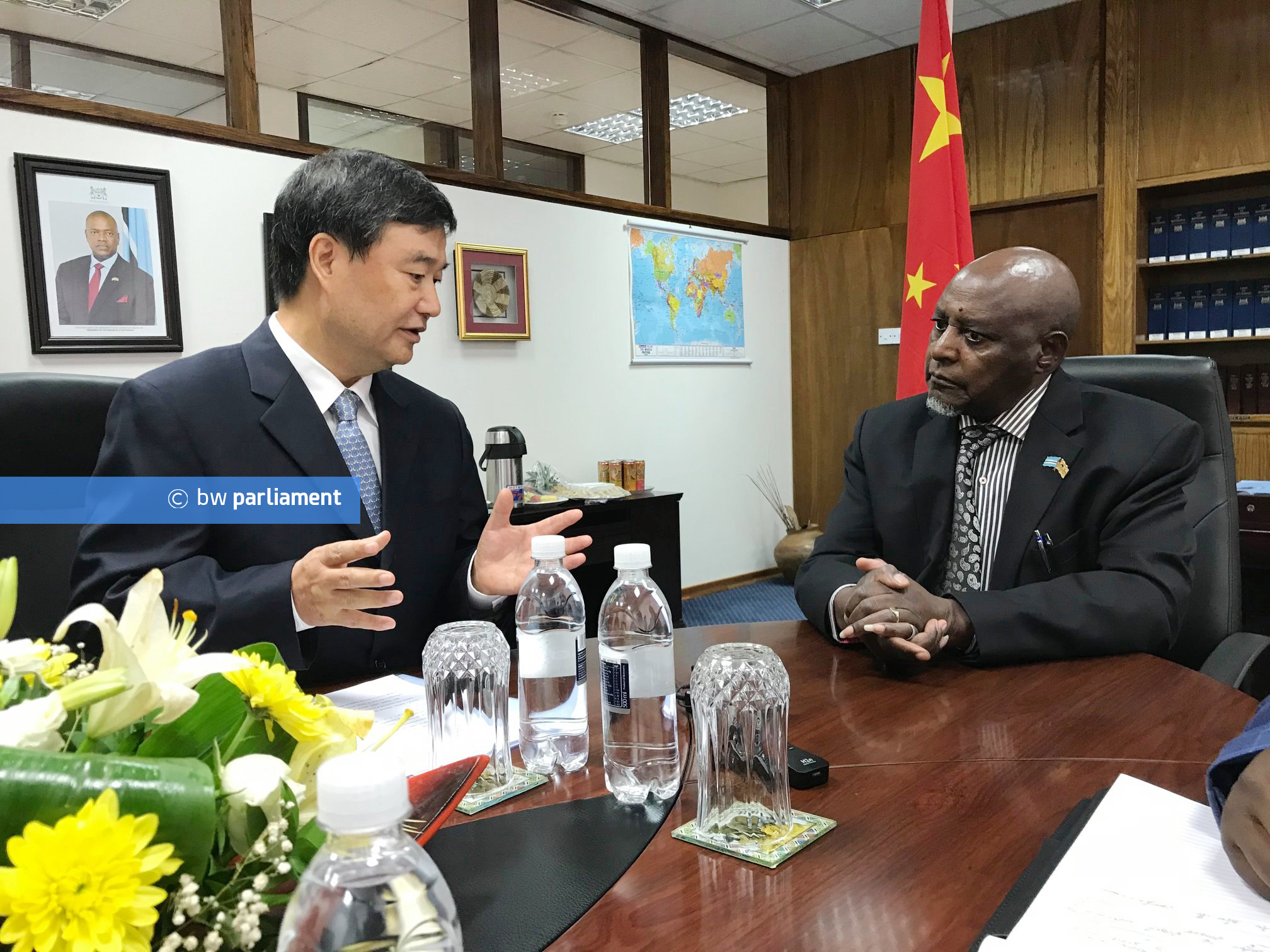 CHINESE AMBASSADOR PAID COURTESY CALL TO THE SPEAKER