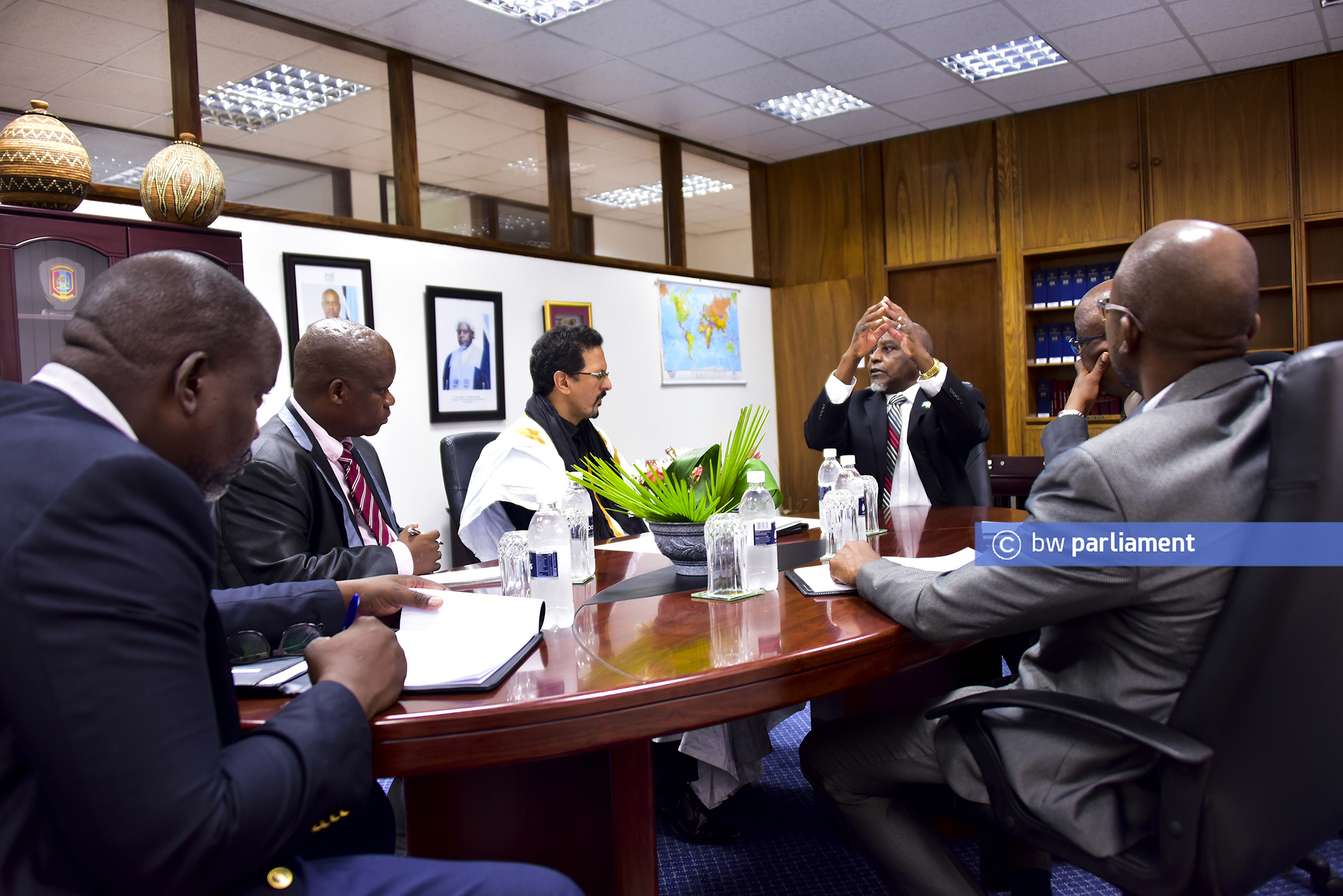 THE SAHARAWI ARAB DEMOCRATIC AMBASSADOR TO BOTSWANA PAID COURTESY CALL ON THE SPEAKER